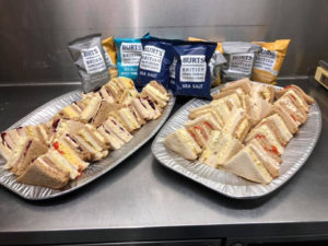 Business lunch sandwiches